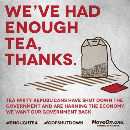 Tea Party shuts down Government