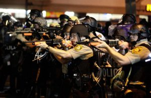 When did our police come to look like stormtroopers? (Image: NYT)