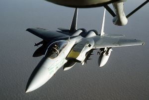 Well, at least they buy our jets: A Saudi F-15C fighter jet, made in America!