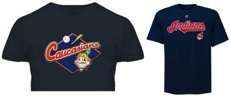 Bomani Jones' 'Caucasians' t-shirt / Cleveland Indians t-shirt