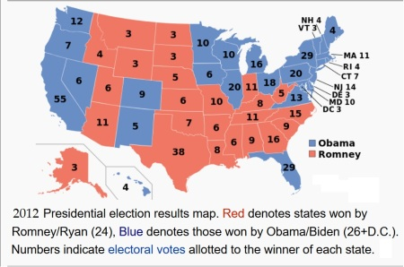 Presidential Election Map - 2012