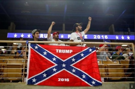 Confederate Flag at Donald Trump Rally
