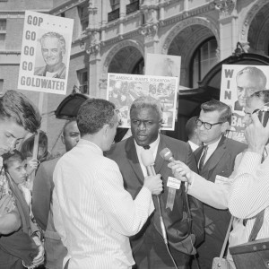 Jackie Robinson Speaking with the Press